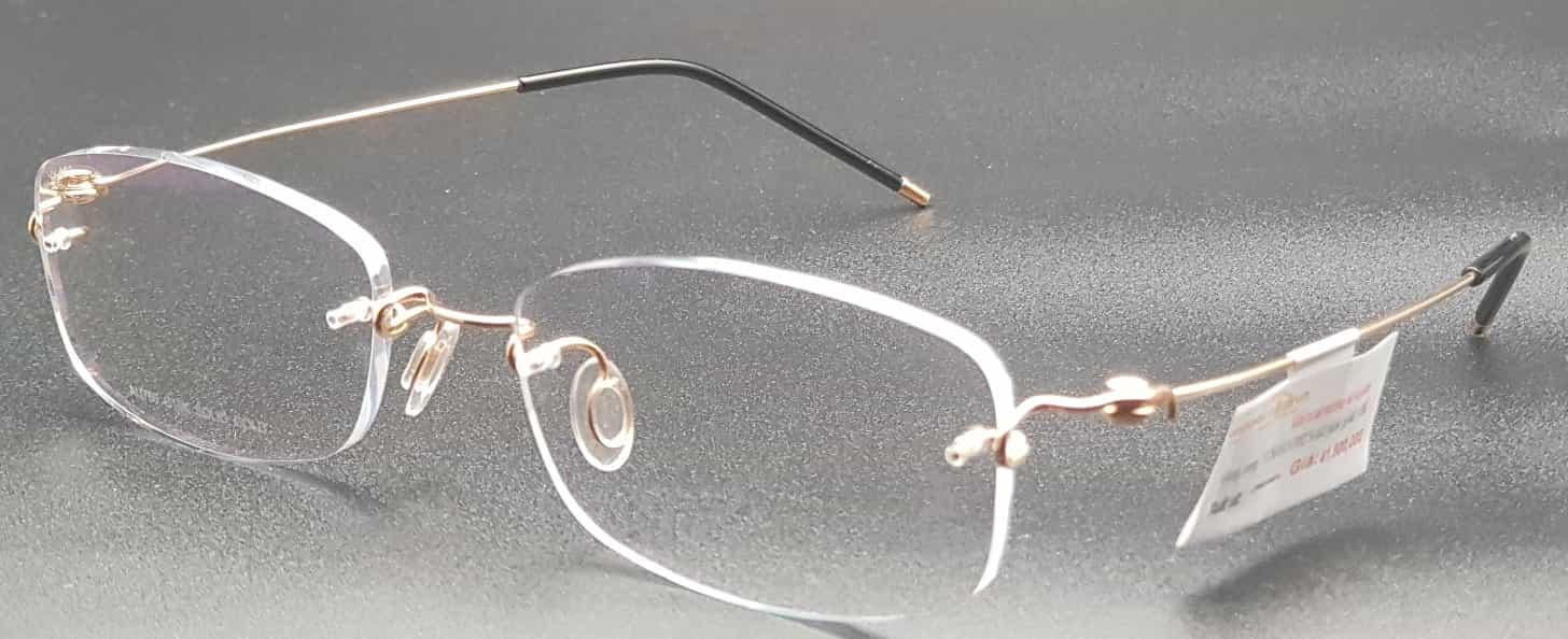Gọng kính vàng nguyên khối YUSHAN 002 Solid pink gold 18K